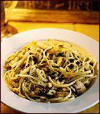 Midnight Pasta with Tuna, Pancetta and Spinach Recipe on Food & Wine Brandon's favorite!!