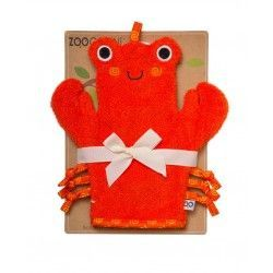 Zoocchini Bath Mitt - Charlie the Crab makes bath time fun! Can be used for washing up or for fun puppet play.