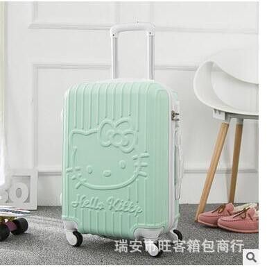 "Hello Kitty 20"" Inch Travel Luggage Suitcase on wheels Luggage trolley bag cabin women suitcase Travel Rolling Case On Wheels"