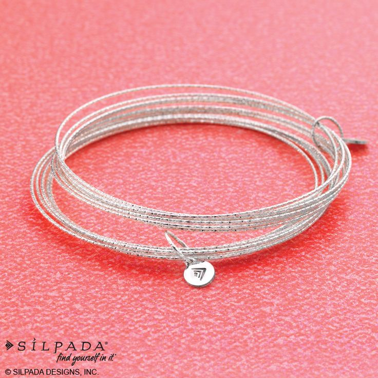 Comfortable, lightweight & easy on-and-off to make traveling with jewels so easy! | #SterlingSilver: Bangles Connection, Silpada Designs, Small Charms, Sterling Silver, Cut 925, Silver Bangles, Diamonds Cut, 925 Sterling, Impressions Bracelets