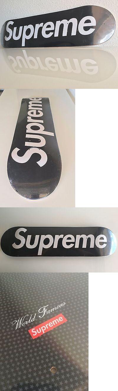 Decks 16263: Supreme Box Logo Rare Skateboard New Skate Deck Black Sealed T-Shirt Hoodie BUY IT NOW ONLY: $395.0