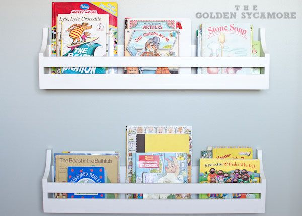Wall Mounted Bookshelves - The Golden Sycamore