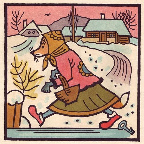 Nice Josef Lada wolf lady... Animalarium: Country Folks