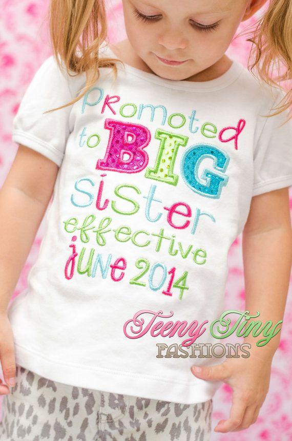 Big Sister Shirt Promoted to Big Sister Big by TeenyTinyFashions