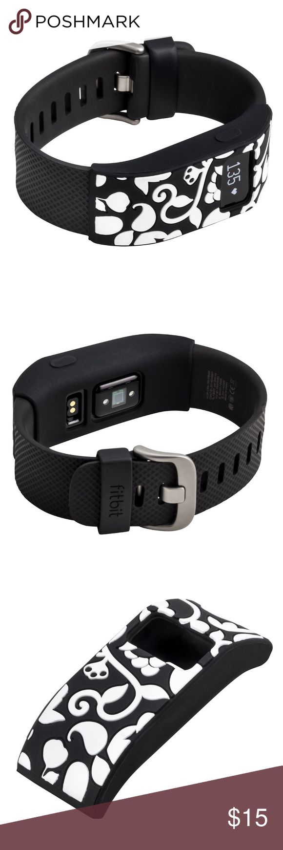 Fitbit Charge / HR Slim Designer Sleeve Cover NEW! Track your steps in style wherever you go! Slides easily into place protecting the middle of your band Fits Fitbit® Charge and Charge HR. Does NOT include fitness tracker or band. Fits both small and large bands Turns your fitness tracker band into a fashion statement. French Bull Accessories Watches