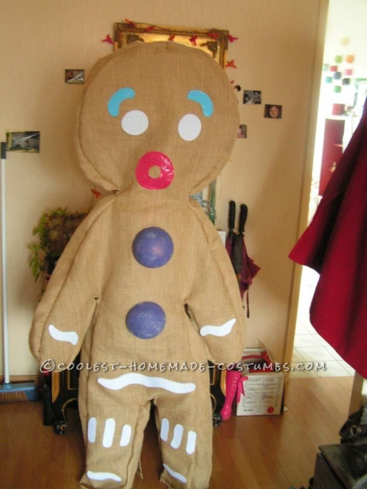 Cool Homemade Gingerbread Man Costume... Coolest Halloween Costume Contest