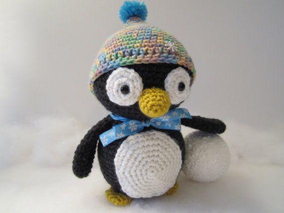 Crochet Penguin, Stuffed Penguin, Amigurumi Penguin, Toy ...