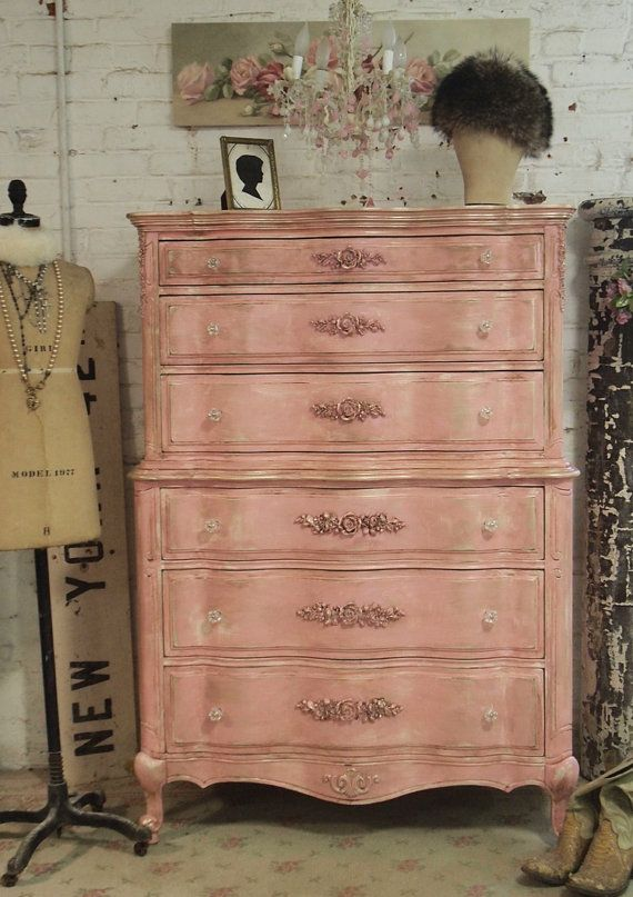 Painted Cottage Pink French Dresser