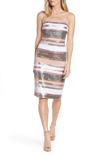 e06b2fddfff3 Vince Camuto Sequin Stripe Dress in 2019 | Trendy Cocktail Dresses ...