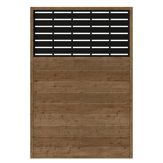 Panneau d\'intimité, bois, Boardwalk, 73,5 x 49,75, brun/noir ...