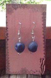 Mustikka korvakorut - Blueberry earrings
