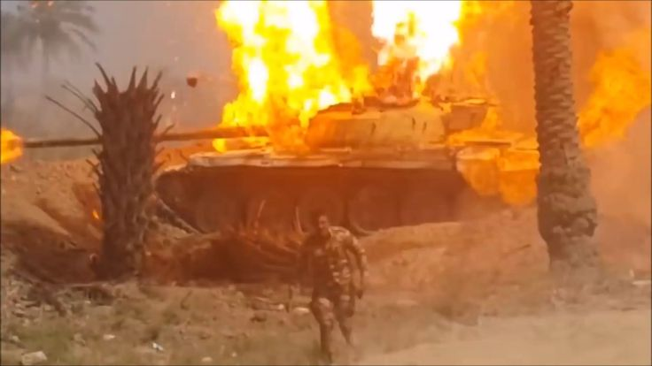 T-72 ammo cooking off [X-post credit in comments] https://www.youtube.com/watch?v=cp9p8glBw8U