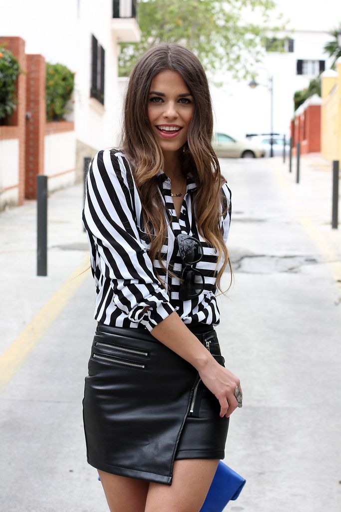 Monochrome and leather of course...