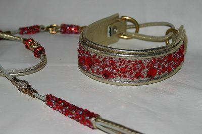 "Swarovski Crystal Dog Collar "" The Ruby Moon"""