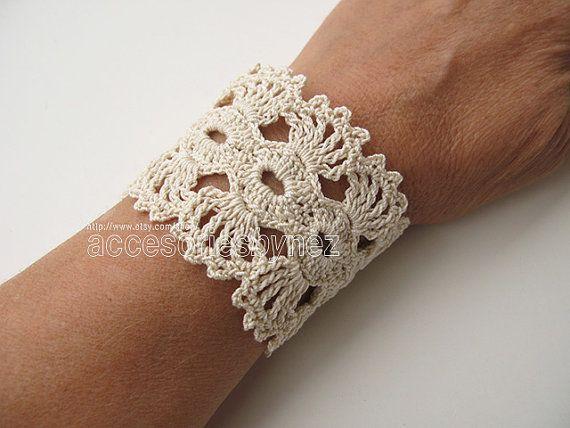 PDF Tutorial Crochet Pattern Crochet Cuff by accessoriesbynez