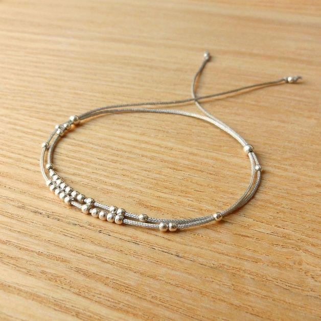 Bracelets  Fleur de givre / Bracelet Argent 925 - Gris - NatashaR sur DaWanda