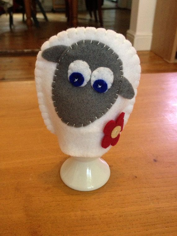 Felt Sheep Egg Cozy by AnnaHandKnitsUK on Etsy, £2.00