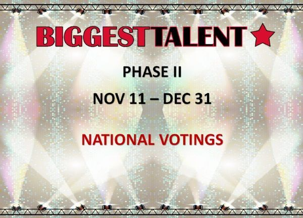2. Fáza BIGGEST TALENT: 11.11.-31.12.2016 - Zahlasovať môžte za obľúbených umelcov z Vašej krajiny