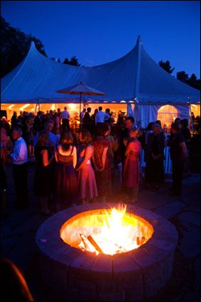 fire pit at a wedding...yes!