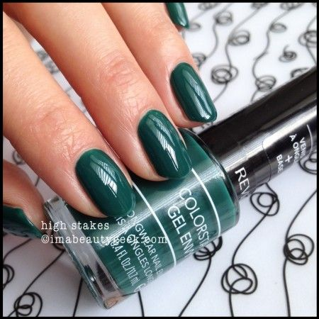 Revlon Gel Envy High Stakes 2014. Click thru to imabeautygeek.com for more Gel Envy Swatches!