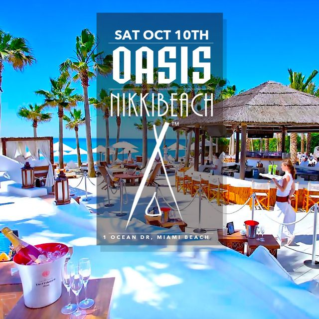 Get ready for that #MIAMICARNIVAL VACATION ‼️‼️ Cause OCT 10th presents OASIS party by the beach at the exclusive @NikkiBeachMiami ‼️ MORE INFO AT: http://www.areyouvip.com/event/oasis/ @areyouvip @gqevent @teamfloss