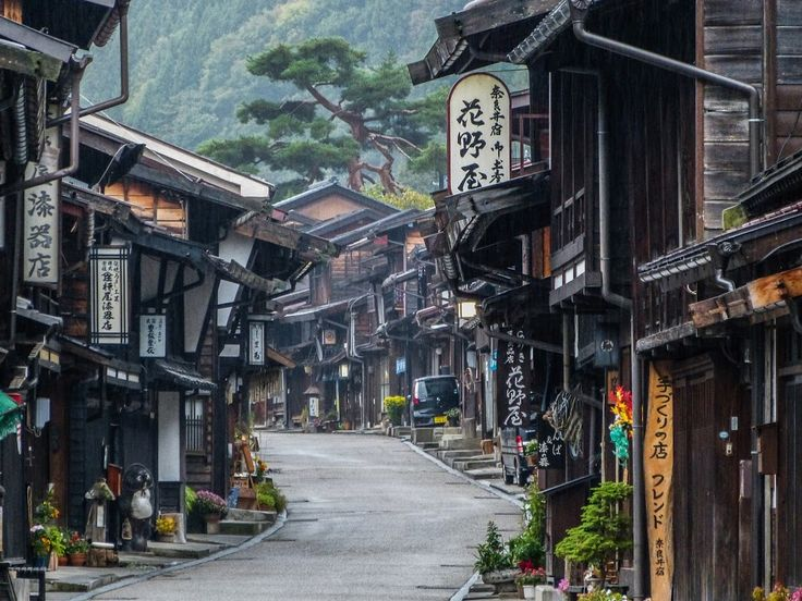 """Kevin Kelly says: """"The Nakasendo is an old road in Japan that connects Kyoto to Tokyo. It was once a major foot highway, but today small sections retain some of its historical feel."""