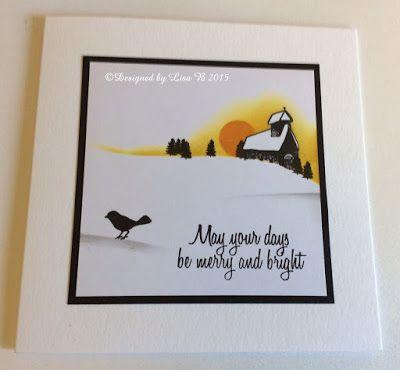 Handmade card by Lisa B. Card-io stamps & Distress inks.