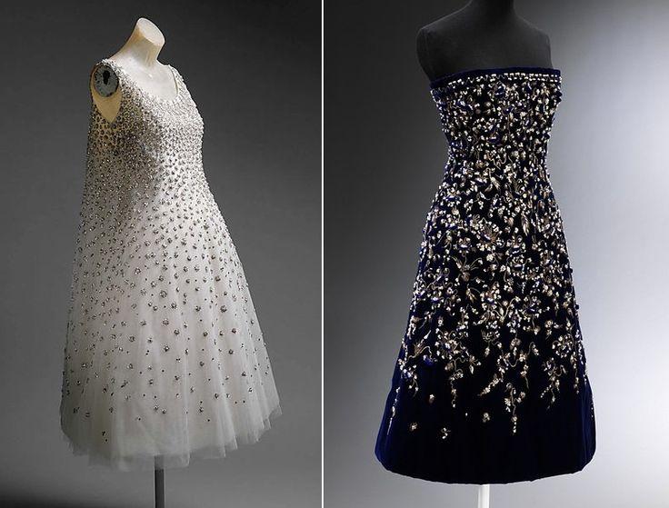 """Платье """"Elephant blanc"""" (""""заморское диво"""", букв. """"белый слон""""), Ив Сен-Лоран для дома """"Диор"""", 1958 г., и платье """"Босфор"""", Кристиан Диор, 1956 г."""