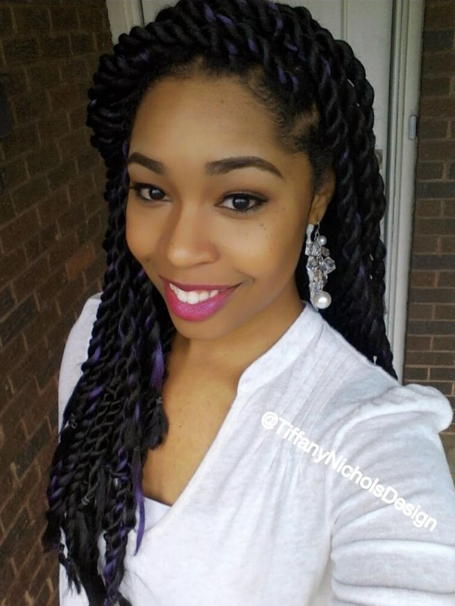 Senegalese Twist | jumbo-senegalese-twist-with-purple-color-highlights