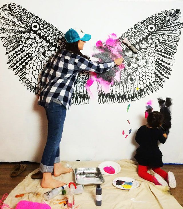 Yesterday I shared the wings that I painted as a backdrop for our Halloween post and today I...