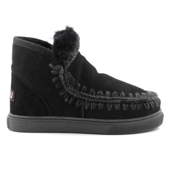 Mou Boots Mini Eskimo Sneaker Women Black - MOU #mouboots #mousale #moubootssale #BlackFriday