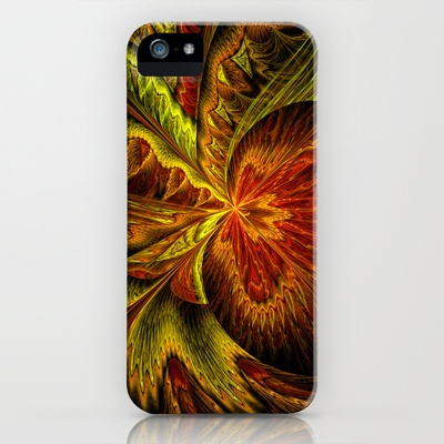 Autumn #Orchid by Liz Molnar #iPhone Case $35.00  #Abstract #art with the colors of autumn. Fractal flame was rendered to extra high resolution lossless png format with fascinating color palette