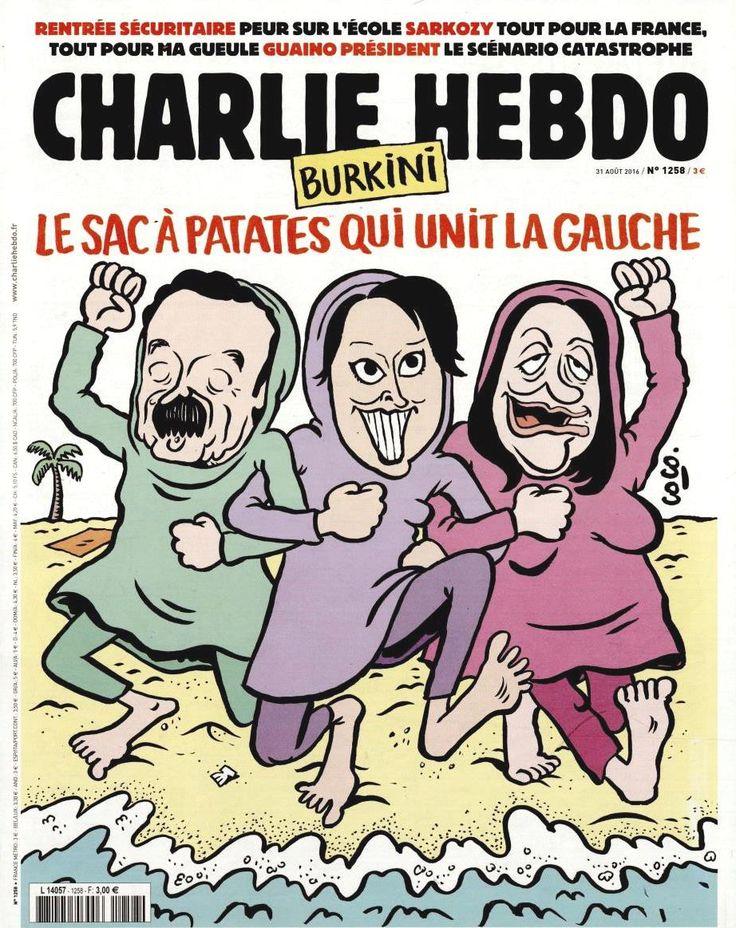 Charlie Hebdo - # 1258 - 31 Août 2016 - Couverture : Coco