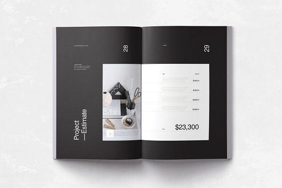 Proposal Minimalisme - Brochures #minimal #clean #simple