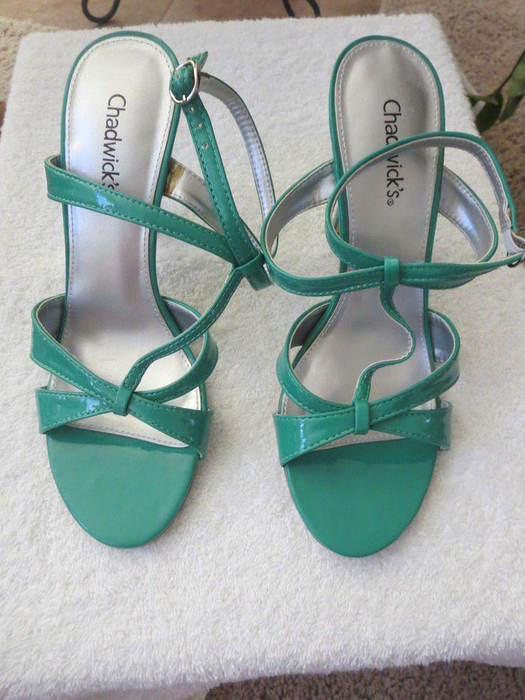 Chadwick's green strappy heel sandals size 7.5  #Chadwicks #Strappy