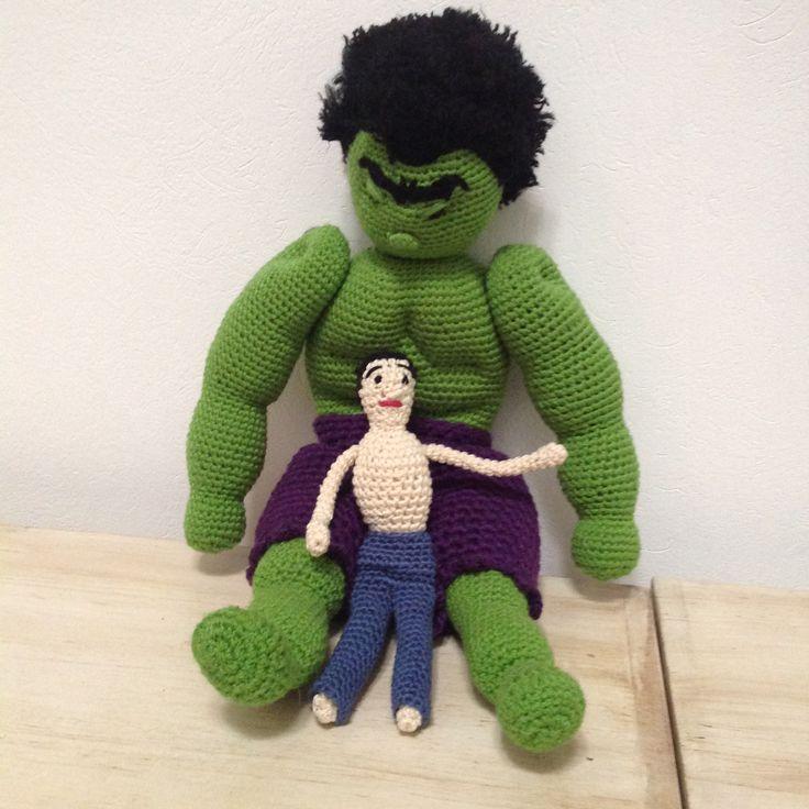 Hulk & Dr. Banner crochet doll