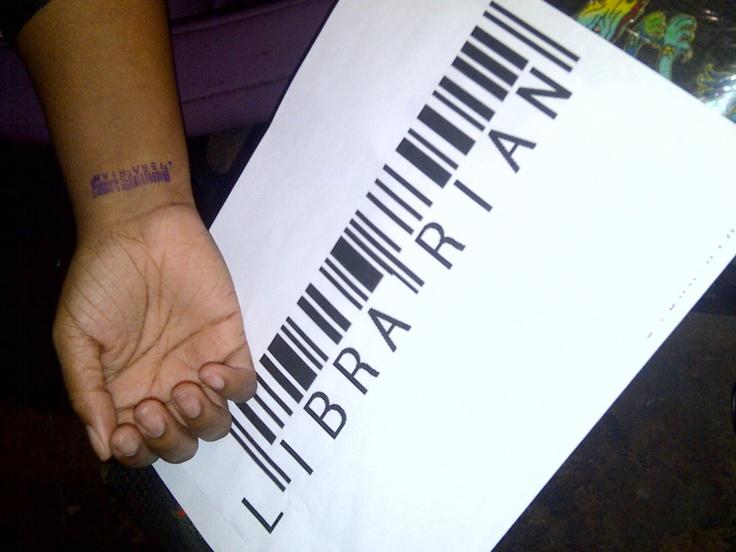 11 Amazing Librarian Tattoos - Mental Floss Librarian barcode