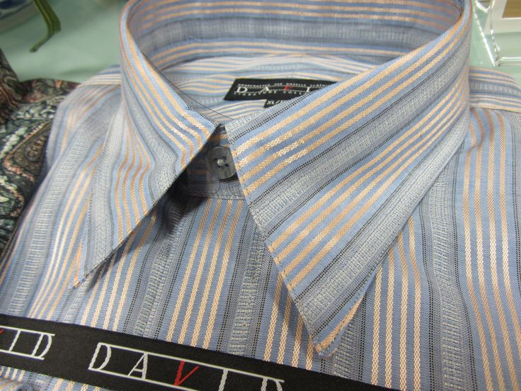 Lustrous fabrics for dress shirts from David's Master Collection. www.davelleclothiers.com
