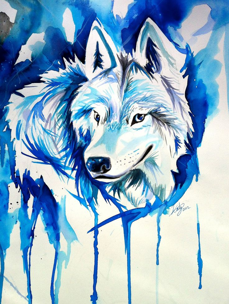 форме картинки с волками граффити представляет