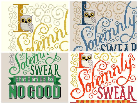 $13.16 ********** Celebrate your Harry Potter-iness (Potterhead-ness?) with this cross stitch pattern. Get some of your Mischief Managed! This listing