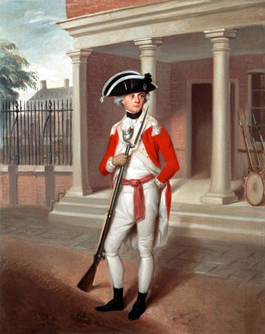 Second Lieutenant George Belson, Corps of Marines, Chatham, 1780 (c) (Belson was commissioned on the 6th May, 1778.)