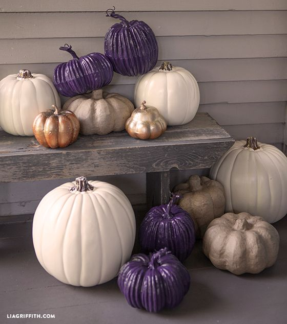 DIY Michaels Craft Pumpkins - fall decor #MichaelsMakers
