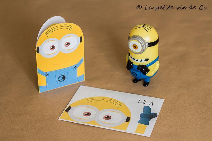 invitation enveloppe Minions