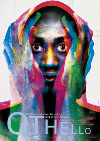 Frieder Grindler - Othello, poster, Theaterhaus Stuttgart, 1994.
