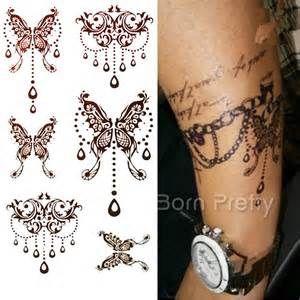 Sheet Mehndi Paisley Flower Tattoo Decals Henna Mehendi Waterproof ... Tattoo 1