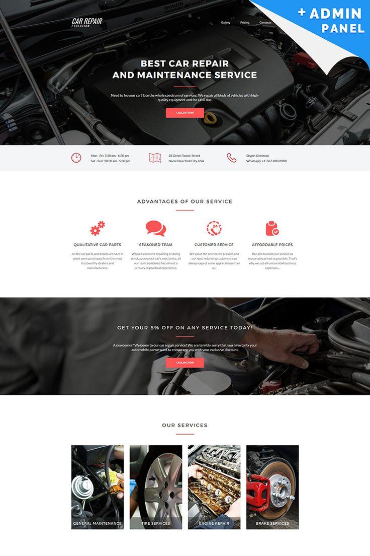 Evolution - Car Repair MotoCMS 3 Landing Page Template #65039
