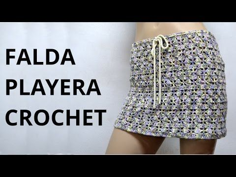 Falda Playera en tejido crochet tutorial paso a paso. - YouTube