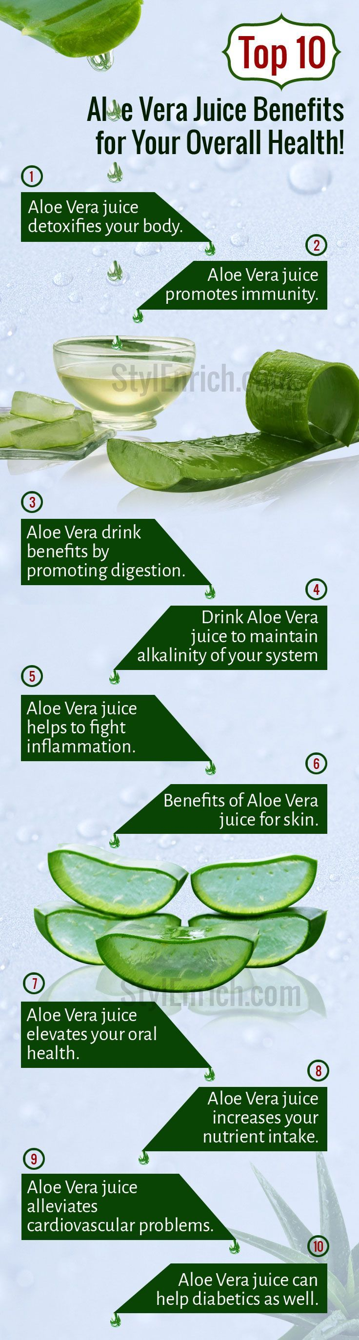 #AloeVeraJuice is one of the best well-known #HomeRemedies that have many Health Benefits.