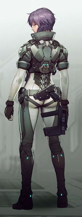Motoko holds a lot of my inspiration in this project, this pretty much sums up why in addition to her cynbernetic body