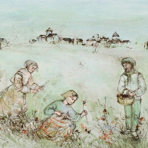 Edna Hibel - Tuscan Fields